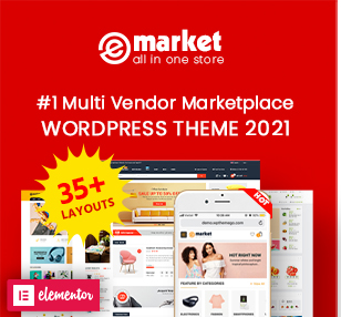 eMarket - Multi Vendor MarketPlace Elementor WooCommerce WordPress Theme