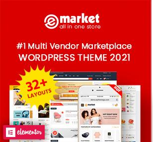 eMarket - Multi Vendor MarketPlace Elementor WooCommerce WordPress Theme