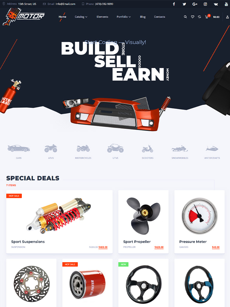 Motor – Cars, Parts, Service, Equipments and Accessories WooCommerce Store