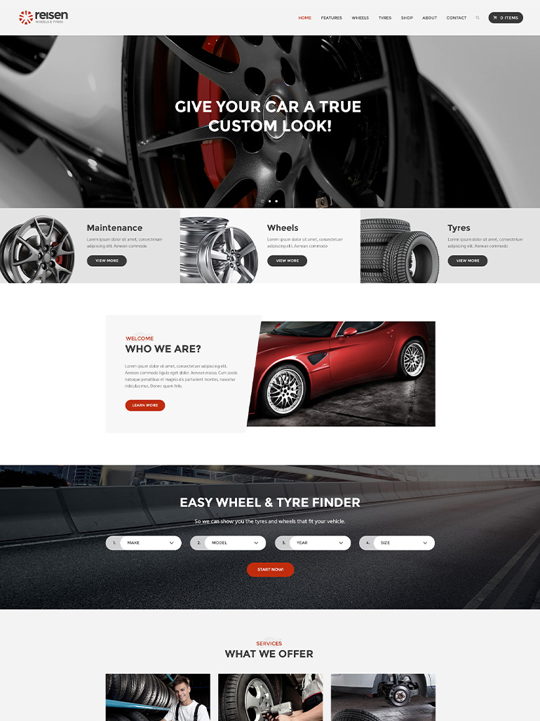 Reisen - Automechanic & Auto Body Repair Car WordPress Theme