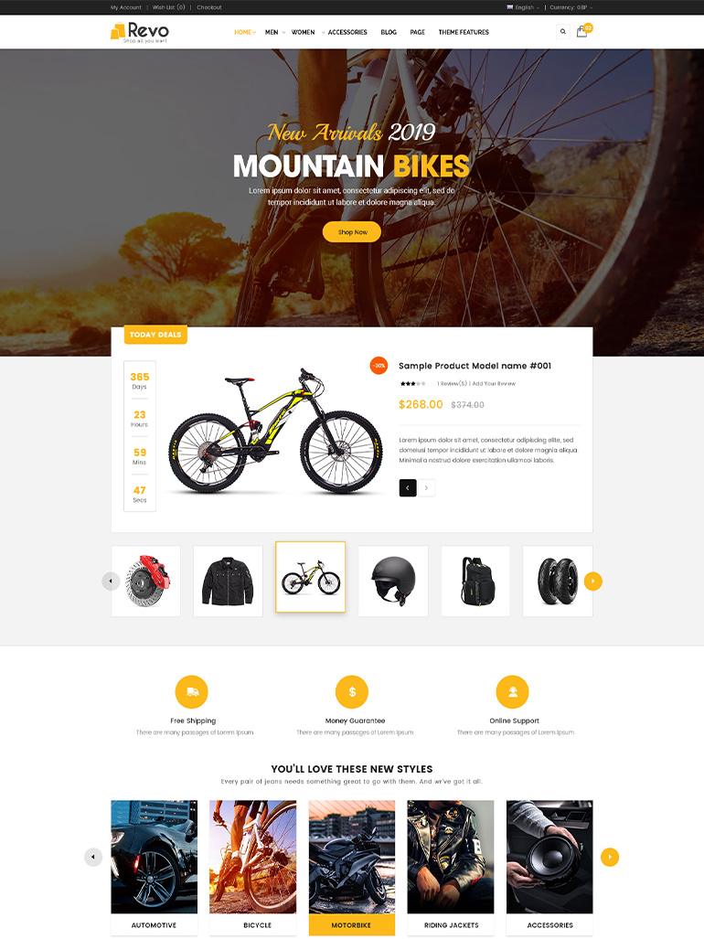 Revo - Best-Selling Multipurpose WooCommerce Theme