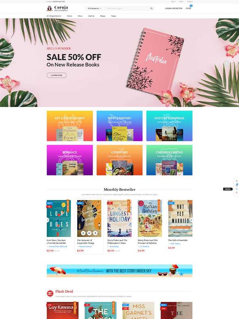 Coruja - Book Store & Publisher WooCommerce WordPress Theme