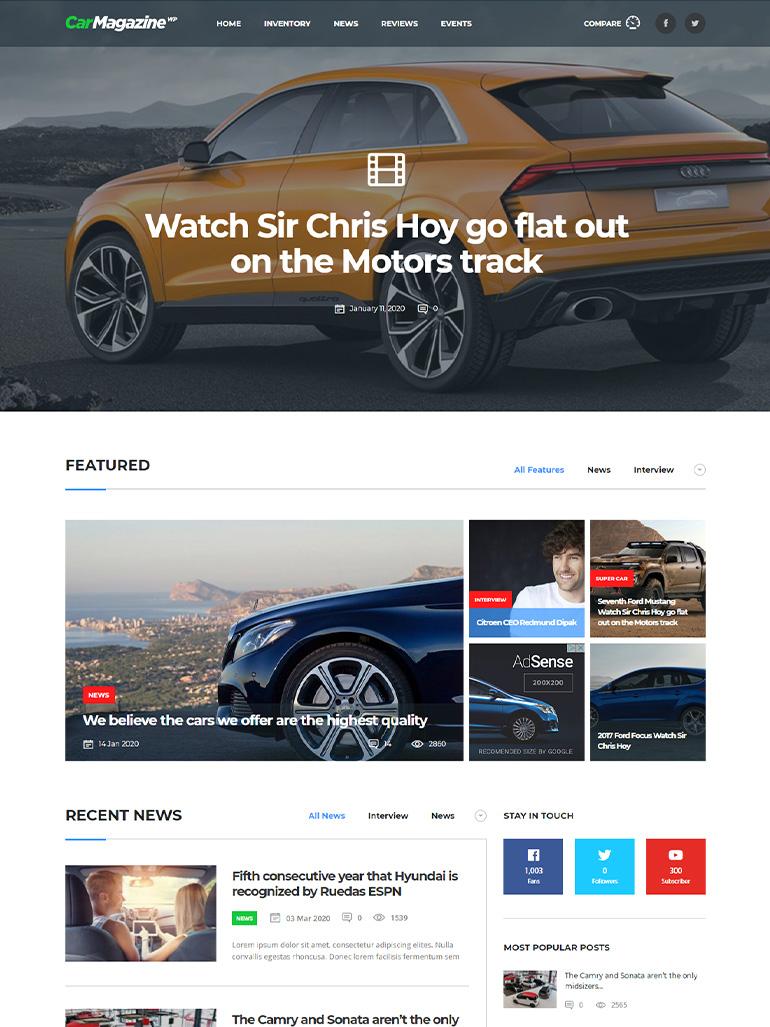 Motors - Car Dealer, Rental & Classifieds WordPress Theme