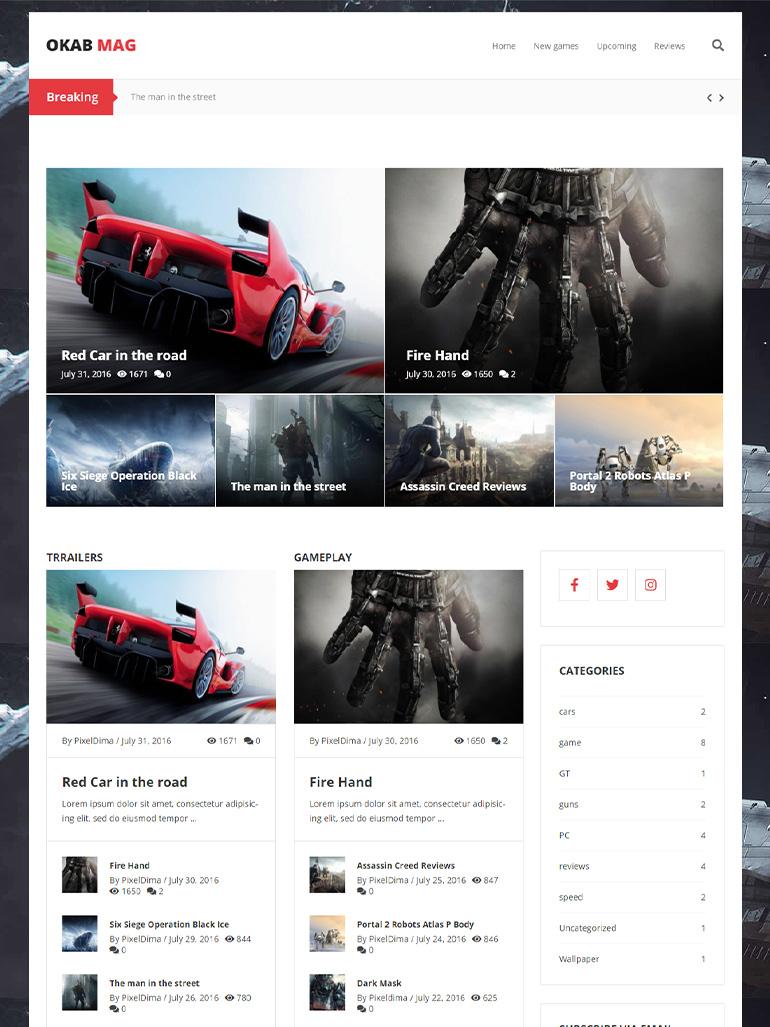 Okab - Responsive Multi-Purpose WordPress Theme