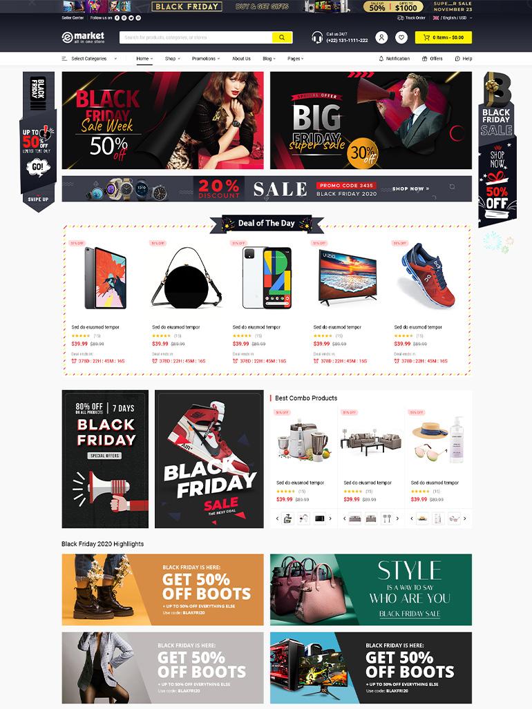 eMarket - Multi-Vendor MarketPlace Elementor WordPress Theme