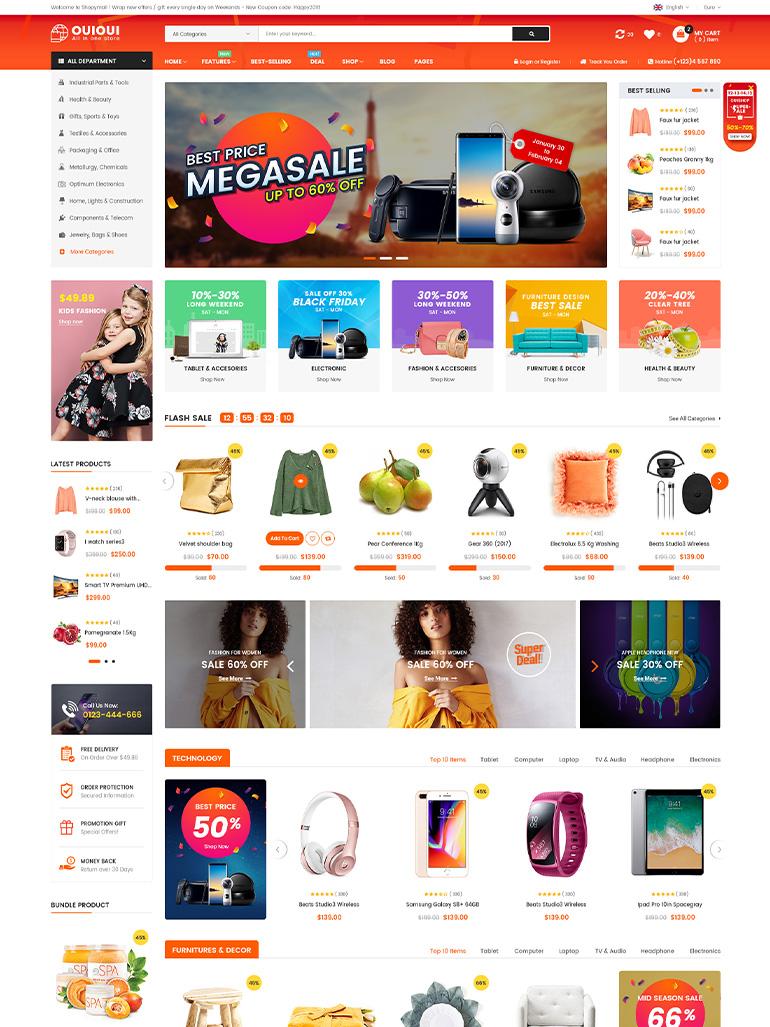 >OuiOui – Modern Multi-Vendor MarketPlace Elementor WordPress Theme