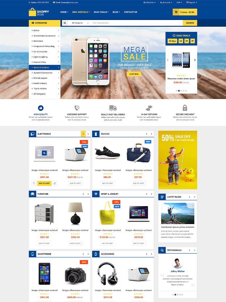 ShoppyStore - Multipurpose Responsive Elementor WooCommerce Theme