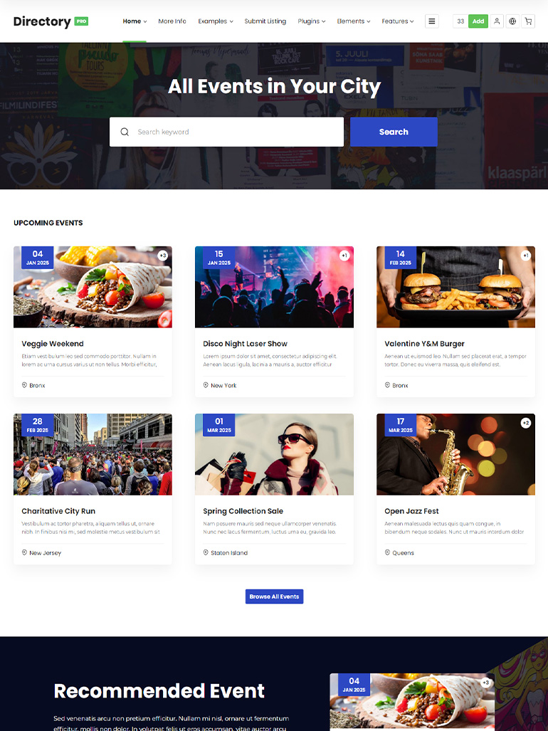 DirectoryPRO - WordPress Directory Theme
