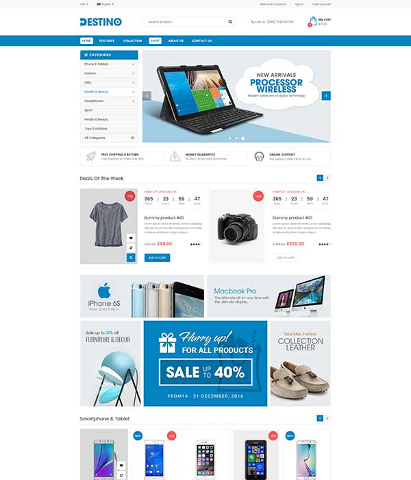 Destino - eCommerce MarketPlace WordPress Theme