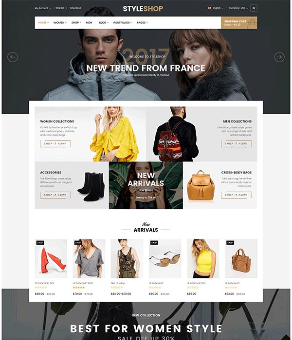 StyleShop - Responsive Fashion Shop WooCommerce WordPress Theme