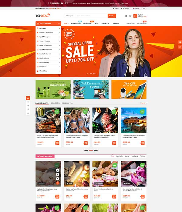 TopDeal - Multi-Purpose MarketPlace WordPress Theme