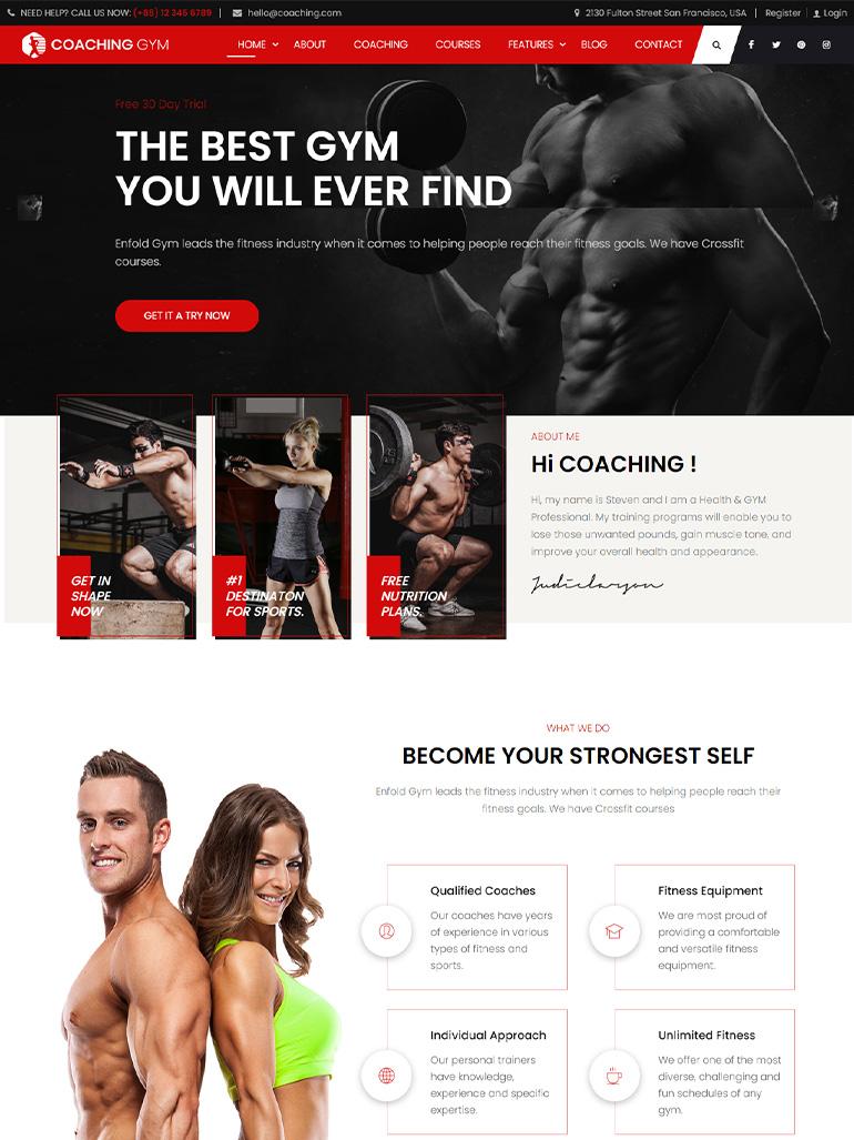 Coaching   Life & Fitness Coaching WordPress Theme