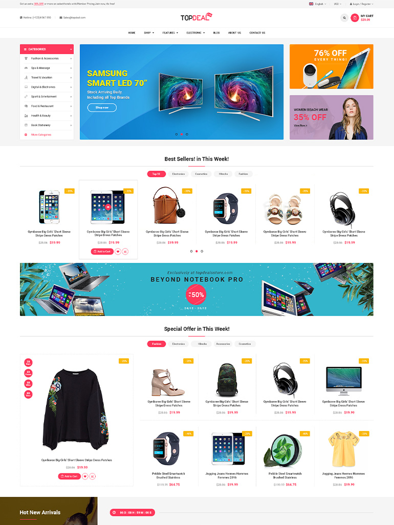 TopDeal - Multi Vendor Marketplace WooCommerce WordPress Theme