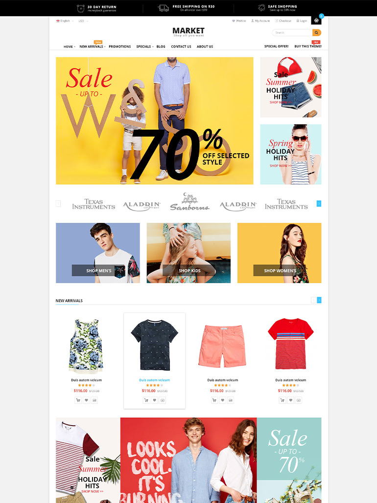 Market - Shopping WooCommerce WordPress Theme