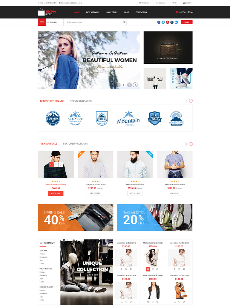 ShoppyStore - Multi purpose Elementor WooCommerce WordPress Theme