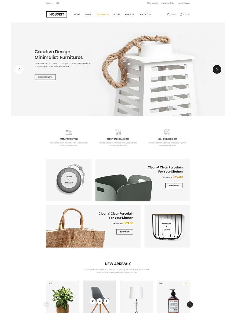 Houskit - Interior Design & Furniture Store WordPress Theme