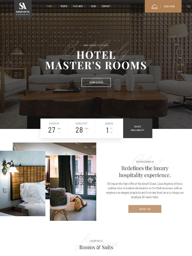 Hotel WordPress Theme | Sailing