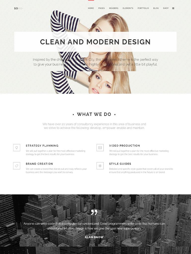 Soho - Clean Multipurpose Theme