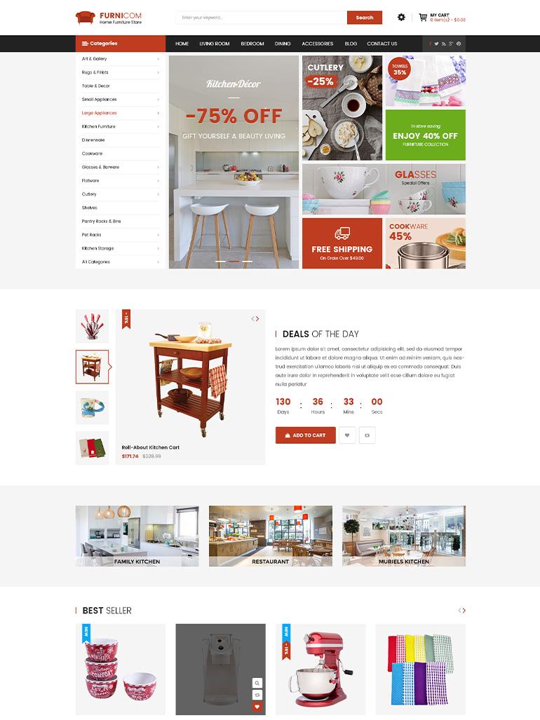 Furnicom - Furniture Store WooCommerce WordPress Themes