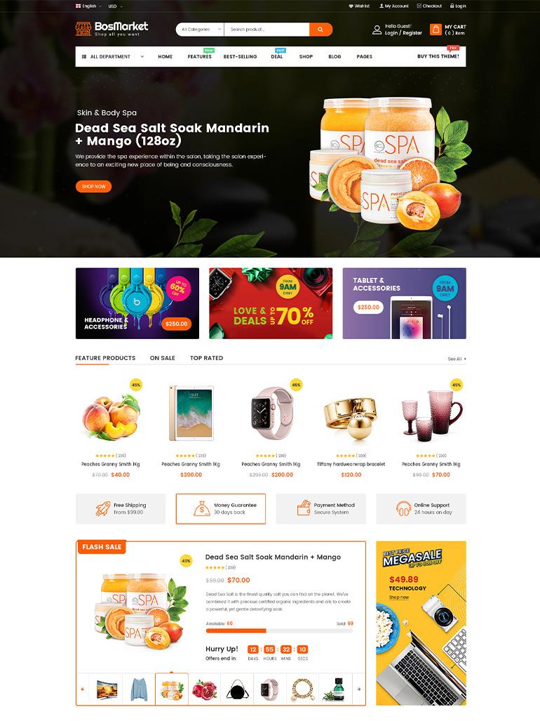 BosMarket - Flexible Multivendor WooCommerce WordPress Theme