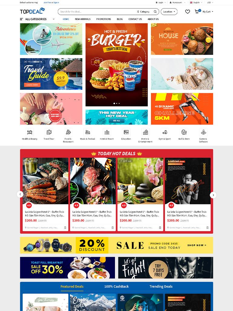 TopDeal - Multi Vendor Marketplace WordPress Theme