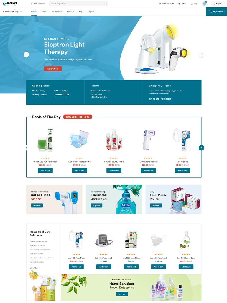 eMarket – Best Multi-Vendor MarketPlace Elementor WordPress Theme
