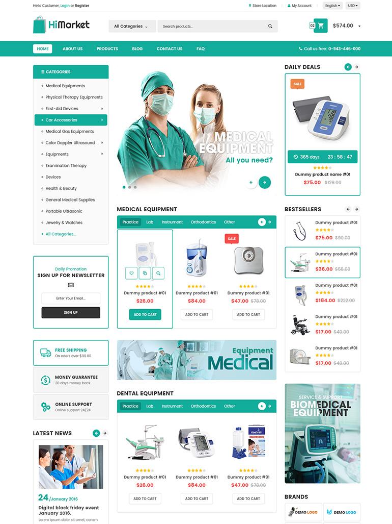 HiMarket – Medical/Sport Shop/Electronics Store WordPress Theme