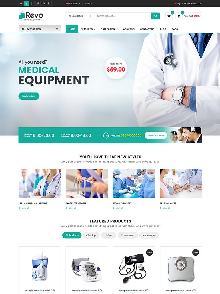Revo - Best-Selling Multipurpose WooCommerce Theme