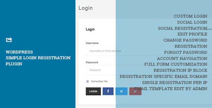 WordPress Simple Login Registration