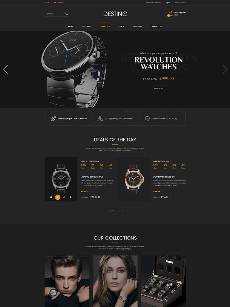 Destino - Digital Store & Fashion Shop WordPress WooCommerce Theme