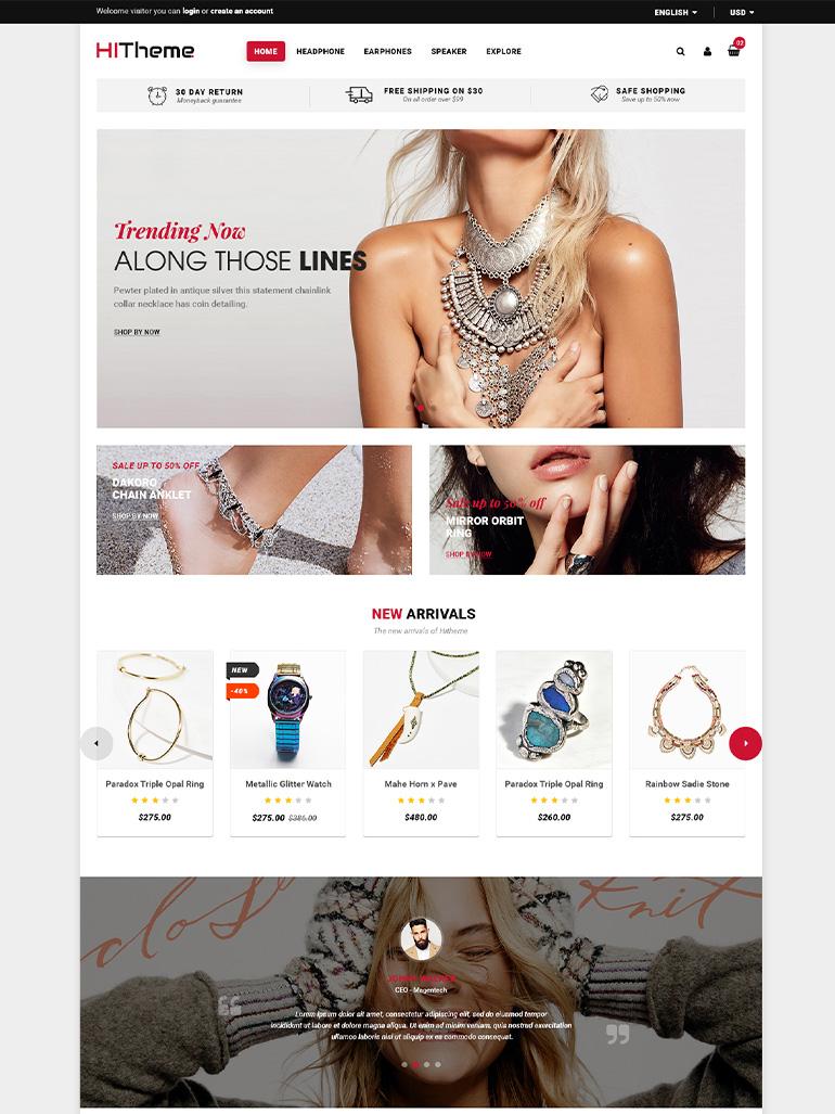 HiTheme - Digital Store & Fashion Shop WordPress WooCommerce Theme