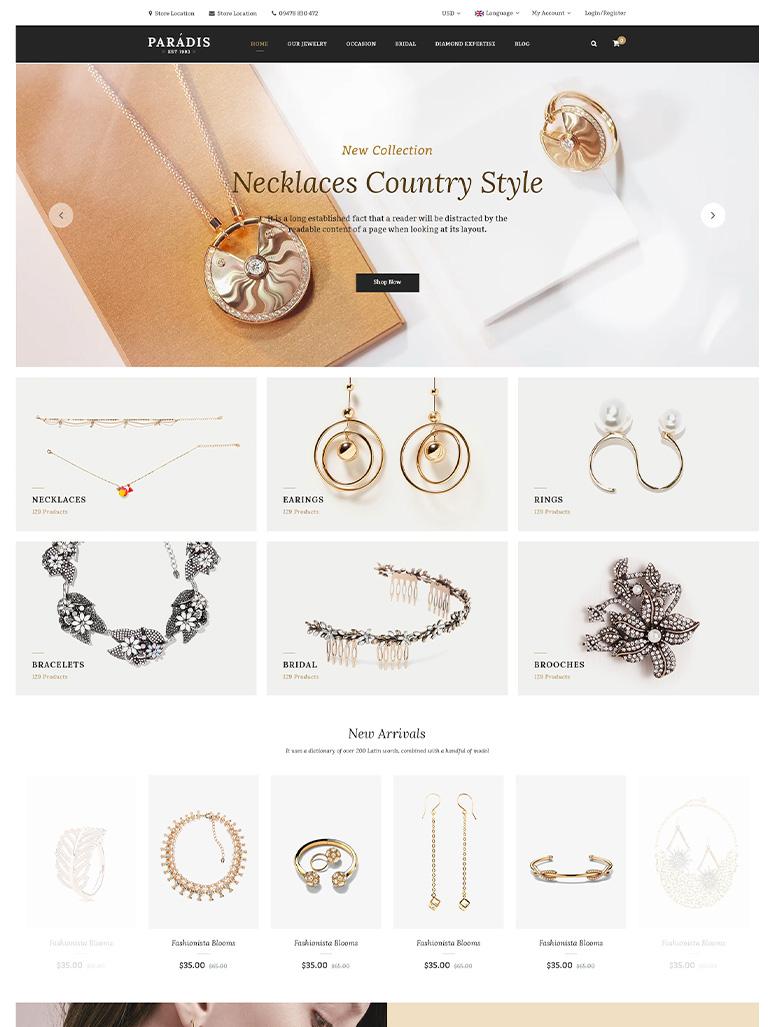 Paradise - Flower Shop Elementor WooCommerce WordPress Theme