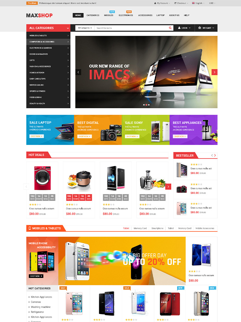 MaxShop - Responsive Multi Purpose Elementor WooCommerce Theme