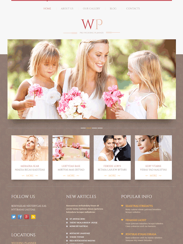Tender Wedding Planner WordPress Theme