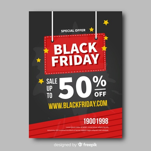 Free Flat Black Friday Flyer Template