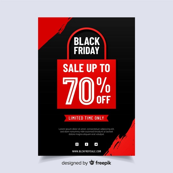 Flat Design Flyer Black Friday