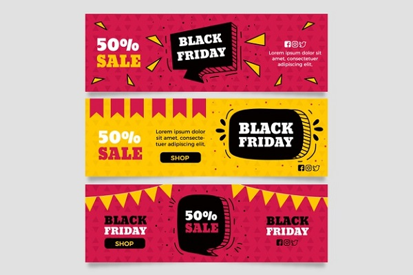 Free Black Friday Sale Instagram Banners Bundle