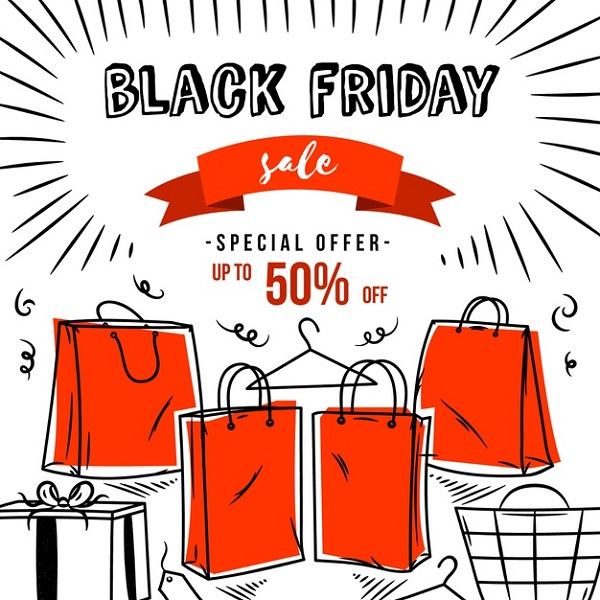 Hand Drawn Black Friday Free Banner