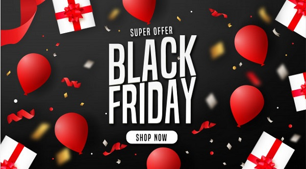 Modern Black Friday Background with Elements