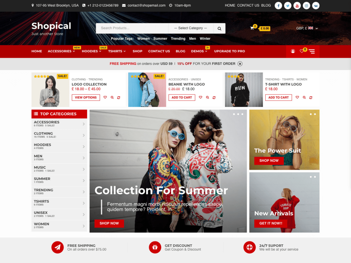 Shopical - free ecommerce wordpress theme