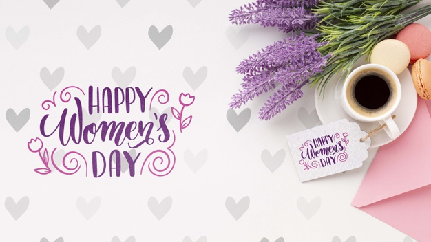 Beautiful women's day horizontal banner template illustrated Free Psd