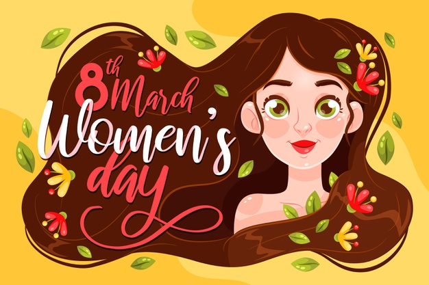 Flat international women's day illustration Free Vector