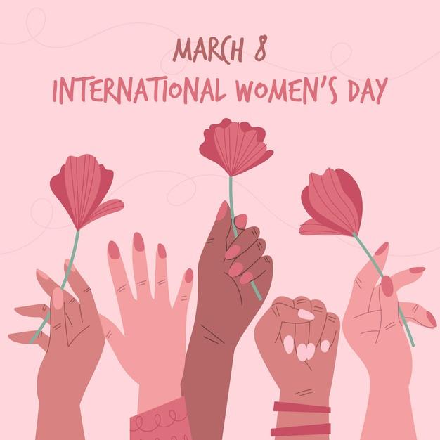 International women day event design Free Vector