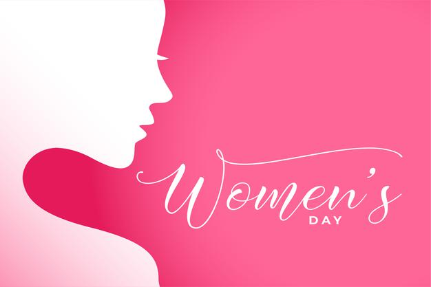 International women's day illustration with woman face Free Vector