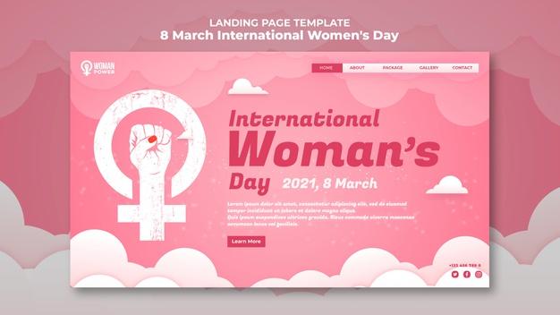 International women's day landing page Free Psd