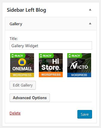 New Gallery Widget in WordPress 4.9