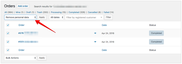 WooCommerce 3.4 - GDPR Features