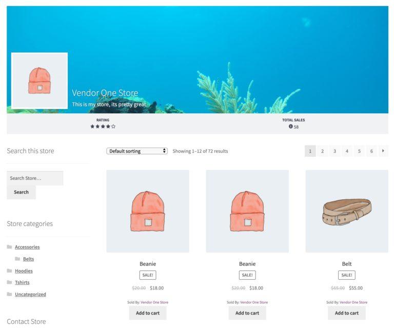 Individual Vendor Stores- WC Vendors Marketplace WordPress Plugin