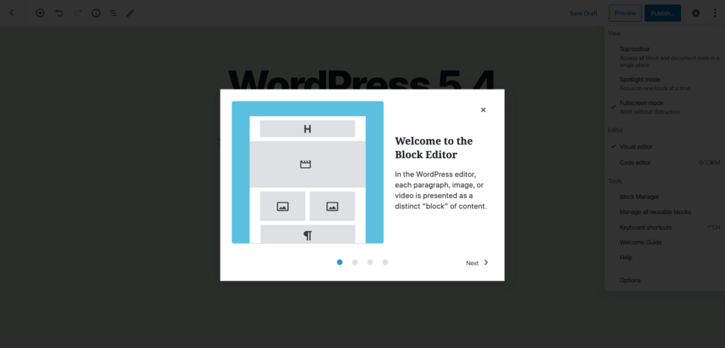 WordPress 5.4 - welcome guide