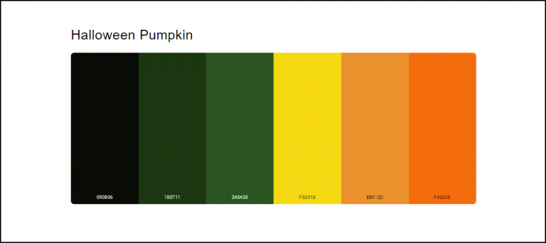 Halloween Decoration color